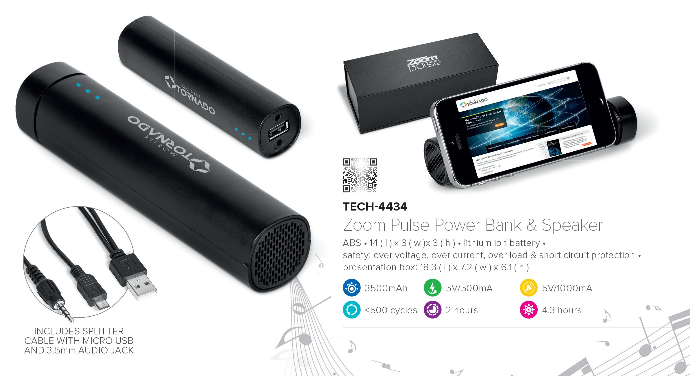 Zoom pulse speaker Power bank